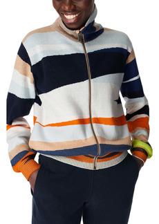 Sweaty Betty Terrain Full Zip Jacquard Sweater