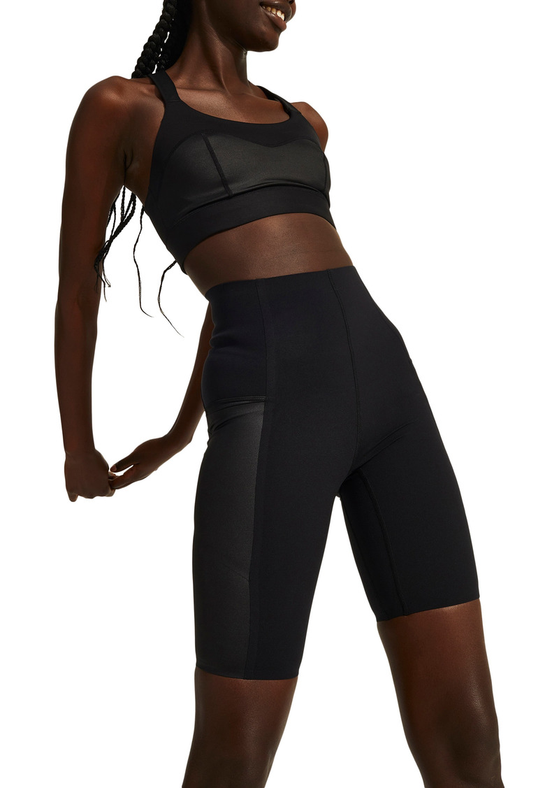 Women's Halle Berry X Sweaty Betty Storm Power Shine High Waist Pocket Bike Shorts