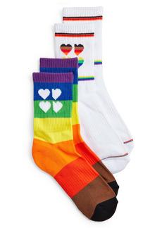 Women's Sweaty Betty Pride 2-Pack Crew Socks