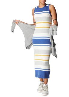 Women's Sweaty Betty Stripe Sleeveless Midi Sweater Dress