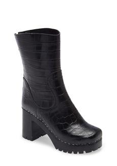 Swedish Hasbeens '90s Croc Embossed Boot (Women)