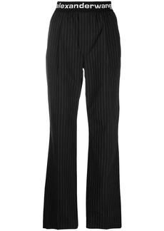 T by Alexander Wang logo waistband track pants