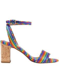 Tabitha Simmons Woman Leticia Striped Twill Sandals Multicolor