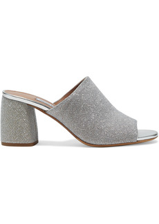 Tabitha Simmons Woman Thelma Metallic Knitted Mules Silver
