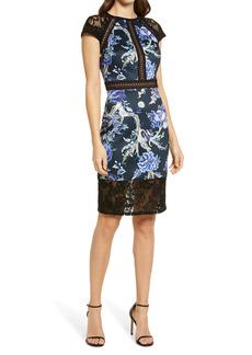 Tadashi Shoji Floral Neonprene Dress