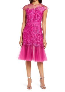 Tadashi Shoji Lace & Tulle Fit & Flare Cocktail Dress