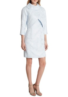 Tahari Asl Wrap Jacket Dress Suit