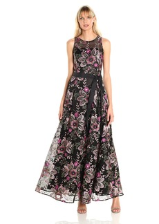 Tahari by Arthur S. Levine Women's Embrodiered Lace Long Gown