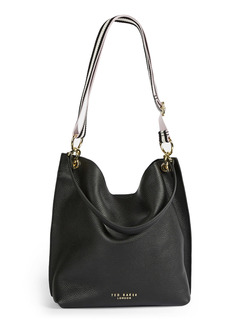 Ted Baker London Amada Webbed Strap Leather Hobo Bag