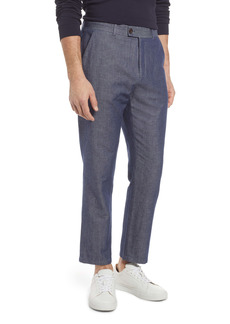 Ted Baker London Bambtro Solid Cotton & Linen Pants