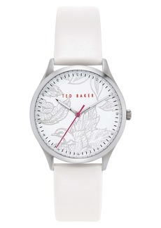 Ted Baker London Belgravia Leather Strap Watch, 36mm