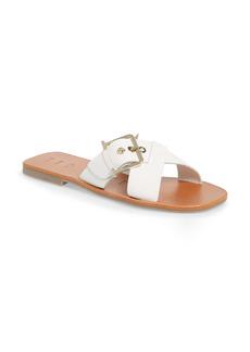 Ted Baker London Buckle Detail Slide Sandal (Women)