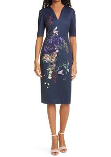 Ted Baker London Carvir Floral Sheath Dress