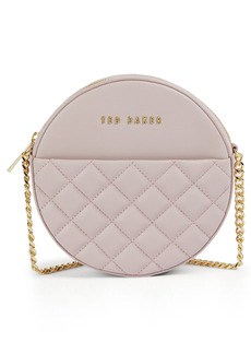 Ted Baker London Cirrcus Small Circle Quilted Leather Crossbody Bag