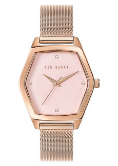 Ted Baker London Exter Mesh Strap Watch, 36mm