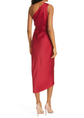 Ted Baker London Gabie One Shoulder Wrap Skirt Dress