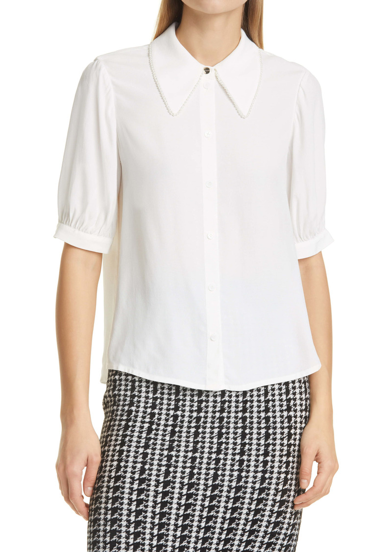 Ted Baker London Imitation Pearl Detail Blouse