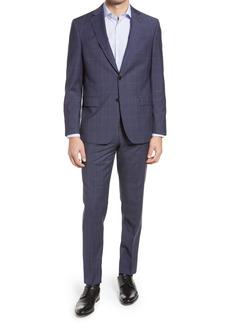 Ted Baker London Jay Slim Fit Windowpane Wool Suit