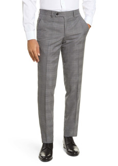 Ted Baker London Jerome Flat Front Plaid Wool Dress Pants