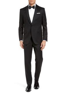 Ted Baker London Josh Trim Fit Wool & Mohair Tuxedo