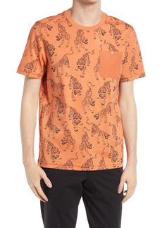 Ted Baker London Men's Patchh Tiger Print Graphic Tee