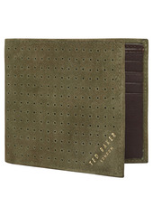 Ted Baker London Nubuck Micro Perforated Wallet