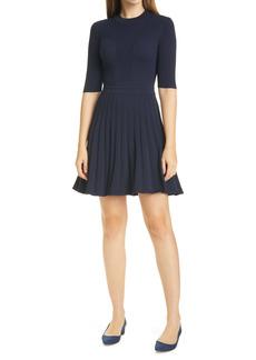 Ted Baker London Olivinn Mix Stitch Fit & Flare Sweater Dress
