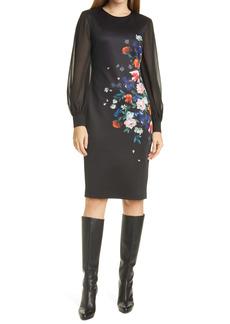 Ted Baker London Ophena Flower Bodycon Dress