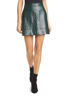 Ted Baker London Oswine Faux Leather Miniskirt