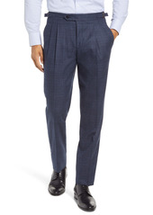 Ted Baker London Roy Extra Trim Fit Pleated Wool Trousers