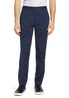 Ted Baker London Slim Fit Pinstripe Linen Blend Trousers