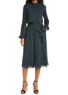 Ted Baker London Wilmer Houndstooth Long Sleeve Dress