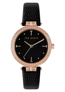 Ted Baker Mayfr Leather Strap Watch, 36mm