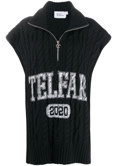 Telfar logo-print cable knit top