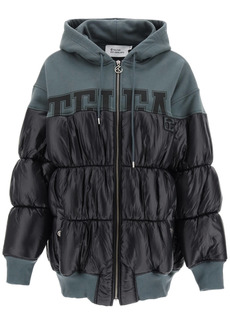Telfar Color-block Bimaterial Down Jacket