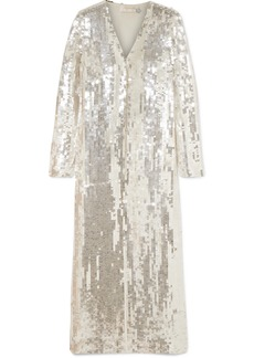 Temperley Sequined Tulle Robe