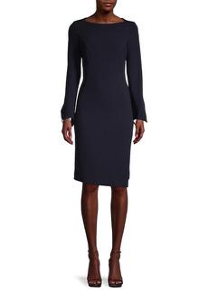 Teri Jon Asymmetric Wool Dress