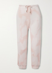 The Great The Cropped Tie-dyed Cotton-jersey Track Pants
