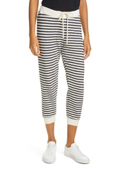 THE GREAT. The Cropped Stripe Sweatpants