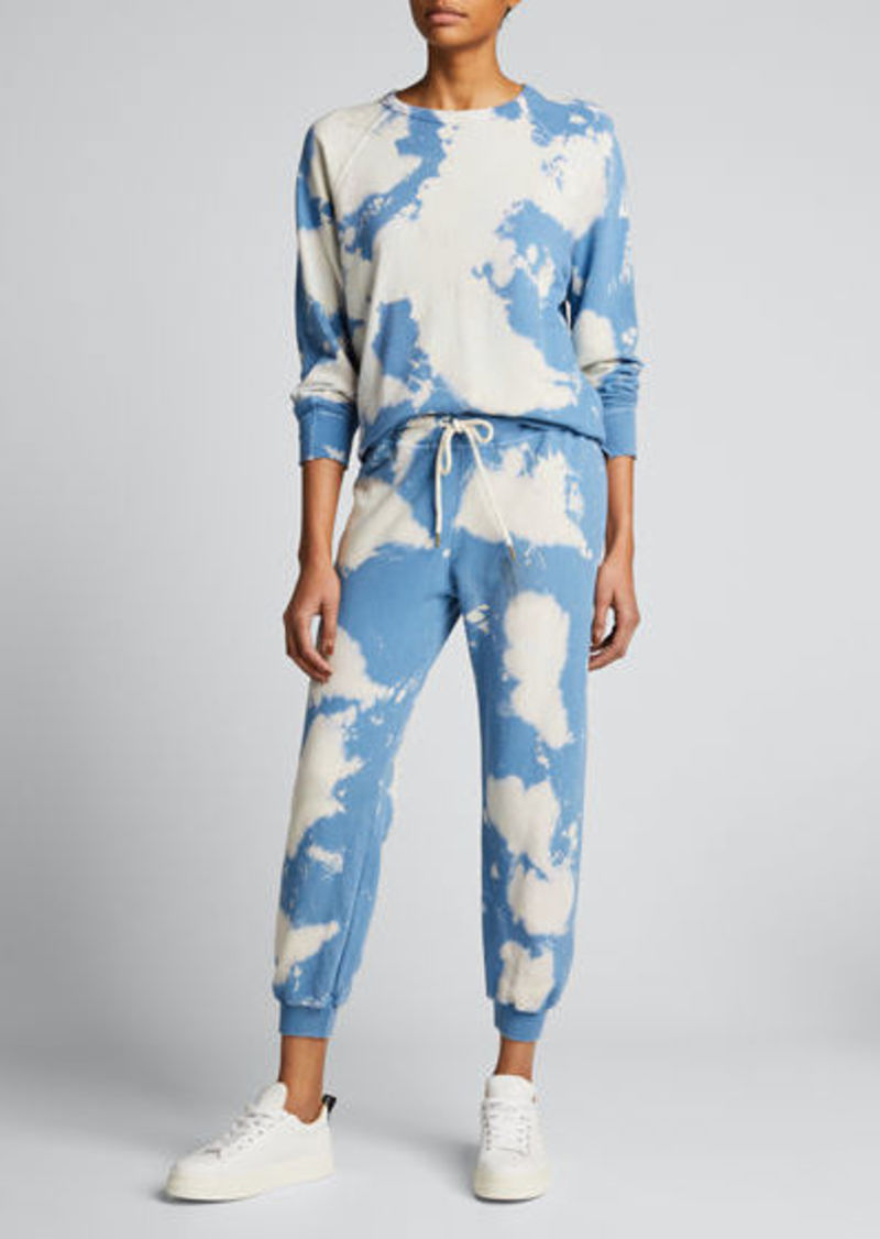 The Great The Cropped Tie-Dye Sweatpants
