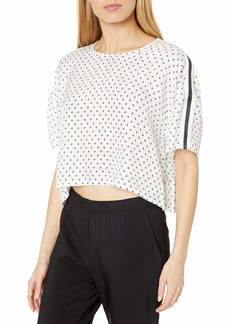 The Kooples Women's Women's Casual Cropped Top in a Graphic Flower Print