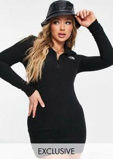 The North Face 100 Glacier fleece dress in black Exclusive to ASOS