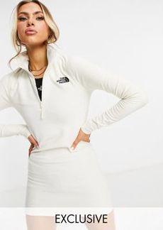The North Face 100 Glacier fleece dress in cream Exclusive to ASOS