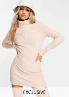 The North Face 100 Glacier fleece dress in pale pink Exclusive at ASOS