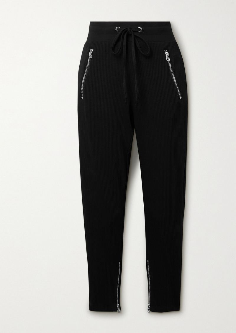 The Range Alloy Ribbed Stretch-jersey Track Pants