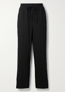 The Range Striped Crepe Wide-leg Pants