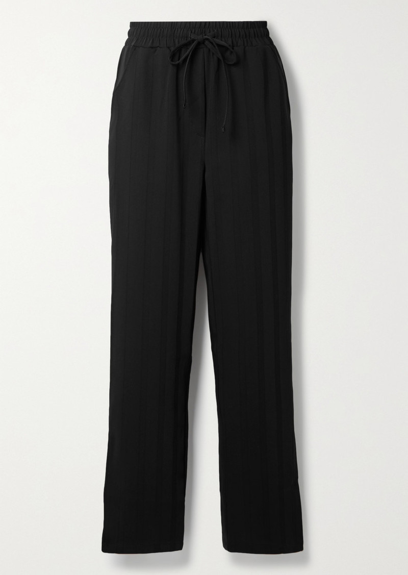 The Range Striped Crepe Wide-leg Pants