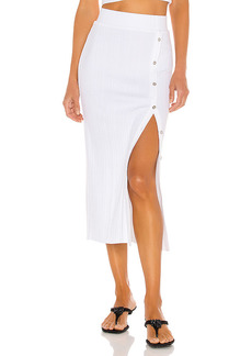 The Range Wave Rib Button Up Midi Skirt