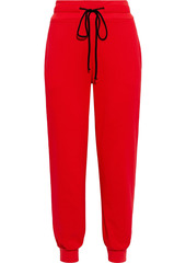 The Range Woman Snap-detailed French Terry Track Pants Tomato Red