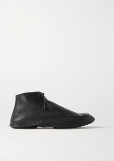 The Row Car Textured-leather Ankle Boots